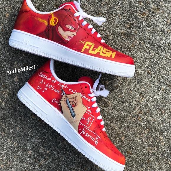 Custom The Flash Nike Air Force Ones